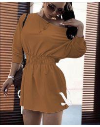 Φόρεμα - κώδ. 7470 - καφέ