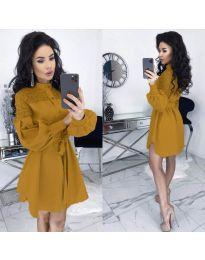Φόρεμα - κώδ. 6364 - μουσταρδί