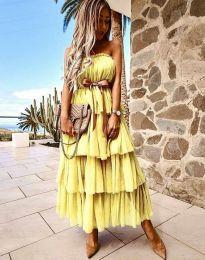 Φόρεμα - κώδ. 1543 - κίτρινο