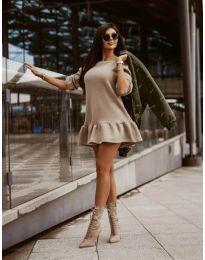 Φόρεμα - κώδ. 11512 - μπεζ