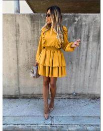 Φόρεμα - κώδ. 7723 - μουσταρδί