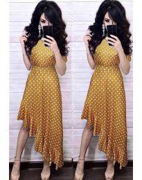 Φόρεμα - κώδ. 3013 - μουσταρδί