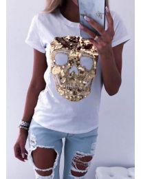 Κοντομάνικο μπλουζάκι - κώδ. 5626 - λευκό