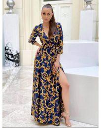 Φόρεμα - κώδ. 4489 -1 - μπλε
