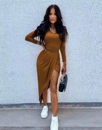 Φόρεμα - κώδ. 1652 - καφέ