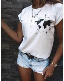 Κοντομάνικο μπλουζάκι - κώδ. 478 - 1 - λευκό