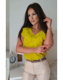Κοντομάνικο μπλουζάκι - κώδ. 388 - κίτρινο