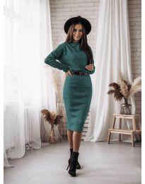 Φόρεμα - κώδ. 7719 - πράσινο