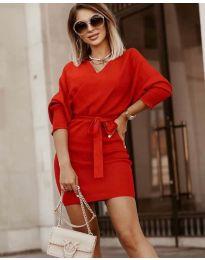 Φόρεμα - κώδ. 9876 - κόκκινο