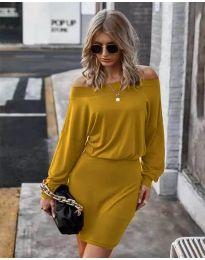 Φόρεμα - κώδ. 4447 - μουσταρδί