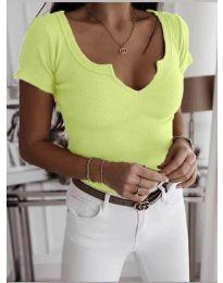 Κοντομάνικο μπλουζάκι - κώδ. 3667 - νέον κίτρινο