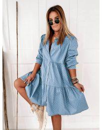 Φόρεμα - κώδ. 5557 - γαλάζιο