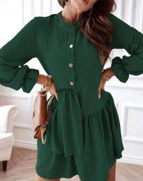 Φόρεμα - κώδ. 2829 - σκούρο πράσινο