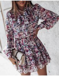 Φόρεμα - κώδ. 6014 - 1 - πολύχρωμο