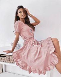 Φόρεμα - κώδ. 11893 - ροζ