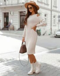 Φόρεμα - κώδ. 8203 - μπεζ