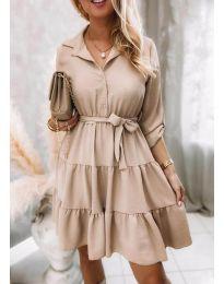 Φόρεμα - κώδ. 6970 - μπεζ