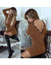 Φόρεμα - κώδ. 0502 - καφέ