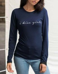 Κοντομάνικο μπλουζάκι - κώδ. 3333 - 1 - σκούρο μπλε
