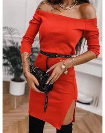 Φόρεμα - κώδ. 4720 - κόκκινο