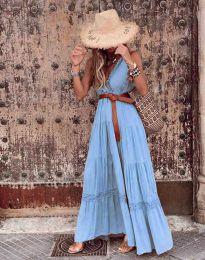 Φόρεμα - κώδ. 0817 - γαλάζιο