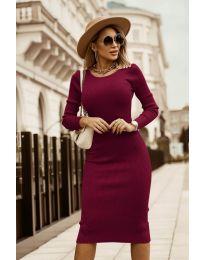 Φόρεμα - κώδ. 8485 - μπορντό
