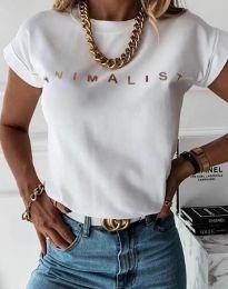 Κοντομάνικο μπλουζάκι - κώδ. 4079 - λευκό