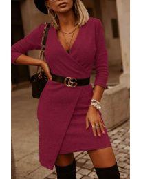 Φόρεμα - κώδ. 9977 - μπορντό
