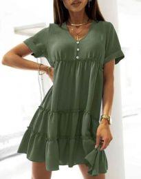 Φόρεμα - κώδ. 7205 - λαδί