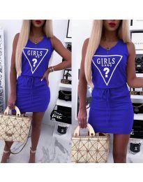 Φόρεμα - κώδ. 2233 - μπλε
