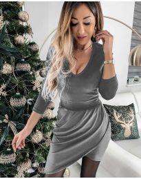 Φόρεμα - κώδ. 2129 - γκρι