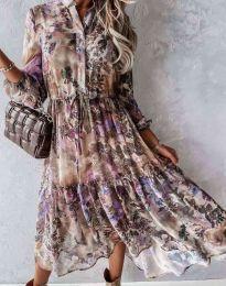 Φόρεμα - κώδ. 9660 - 1 - πολύχρωμο
