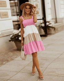 Φόρεμα - κώδ. 11922 - ανοιχτό ροζ