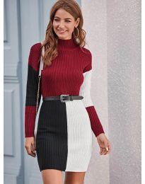 Φόρεμα - κώδ. 9935 - 3 - πολύχρωμο