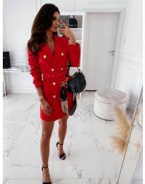 Φόρεμα - κώδ. 5888 - 4 - κόκκινο