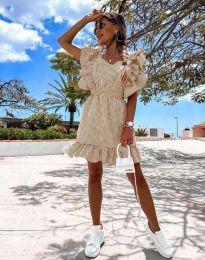 Φόρεμα - κώδ. 2657 - 3 - μπεζ