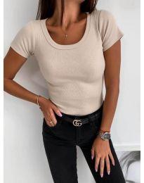 Κοντομάνικο μπλουζάκι - κώδ. 3626 - μπεζ