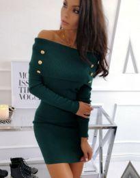Φόρεμα - κώδ. 1326 - 1 - σκούρο πράσινο