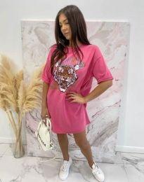 Φόρεμα - κώδ. 11864 - ροζ