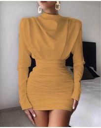 Φόρεμα - κώδ. 8257 - μουσταρδί