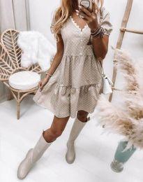Φόρεμα - κώδ. 8292 - μπεζ