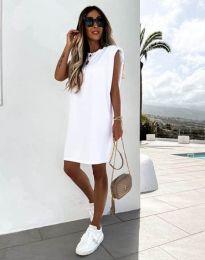 Φόρεμα - κώδ. 11805 - λευκό