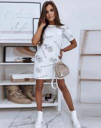 Φόρεμα - κώδ. 2906 - λευκό