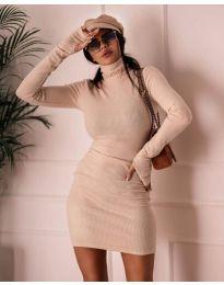 Φόρεμα - κώδ. 1656 - μπεζ