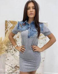 Φόρεμα - κώδ. 2473 - 1 - γκρι