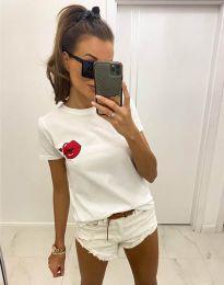 Κοντομάνικο μπλουζάκι - κώδ. 7139 - λευκό