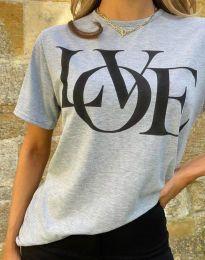 Κοντομάνικο μπλουζάκι - κώδ. 11978 - σκούρο γκρι