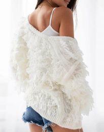 Атрактивна дамска жилетка в бяло - код 0107 - гръб