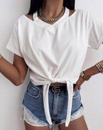 Κοντομάνικο μπλουζάκι - κώδ. 11669 - λευκό