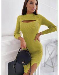 Φόρεμα - κώδ. 4528 - μουσταρδί